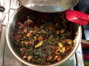 The final cooked chard