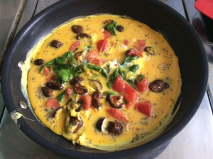 Fresh-eggs-spinach-mushrooms-tomatoes-delicious-omelelette