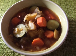 Hot, tasty vegetable soup