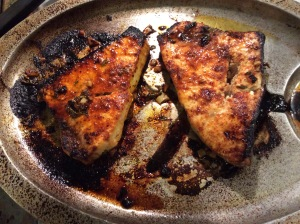 Two Barbecued Marinated Swordfish